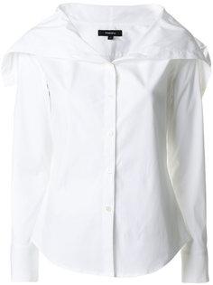 классическая рубашка с объемным воротником Theory