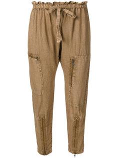 брюки с эластичным поясом и отделкой молниями Current/Elliott