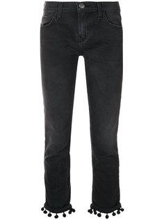 укороченные джинсы с помпонами Current/Elliott