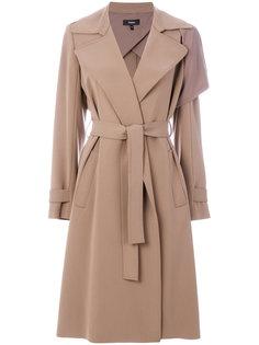 пальто с драпировками и поясом Theory