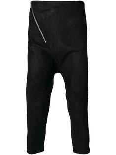 укороченные брюки с заниженным шаговым швом 10Sei0otto