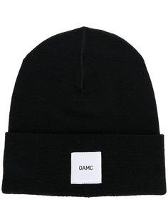 вязаная шапка с логотипом Oamc