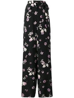 широкие брюки с цветочным рисунком Valentino