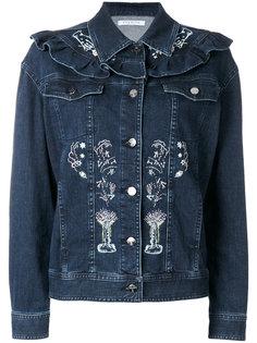 джинсовая куртка с вышивкой Vivetta