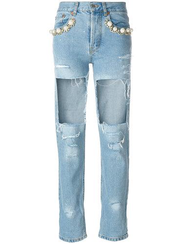 джинсы 'Big Heroes' с рваным эффектом  Forte Couture
