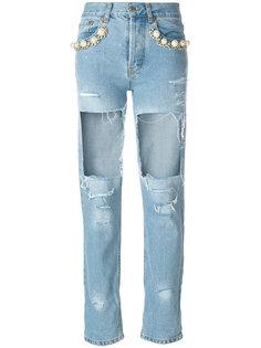 джинсы Big Heroes с рваным эффектом  Forte Couture