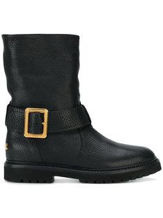 байкерские ботинки Georgy с меховой подкладкой Bally