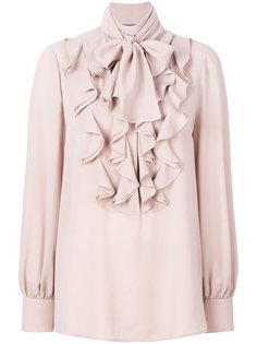 блузка с рюшами и рукавами-колокол Alexander McQueen