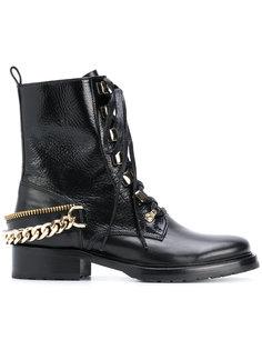 """ботинки в стиле """"милитари"""" с цепочной отделкой Lanvin"""