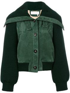 куртка с вязанными рукавами Chloé