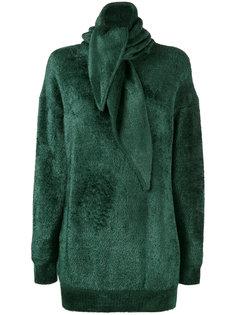 свитер с круглым вырезом и декоративным шарфом Balenciaga