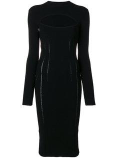 платье с вырезной деталью McQ Alexander McQueen