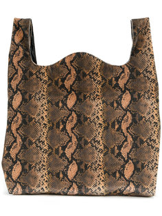 сумка-тоут с выделкой под кожу змеи Mm6 Maison Margiela