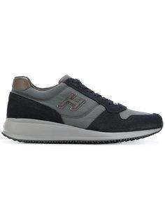кроссовки со шнуровкой на платформе  Hogan