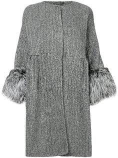 пальто с меховыми манжетами Ermanno Scervino