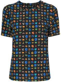 блузка с короткими рукавами с принтом Etro