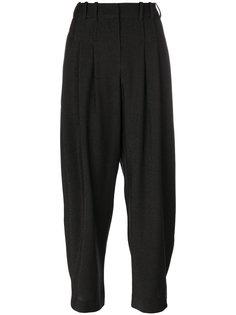 укороченные брюки с плиссировкой на талии Giorgio Armani