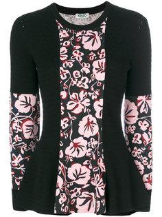 свитер с цветочными панелями Kenzo