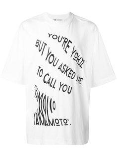 футболка со слоганом Y-3