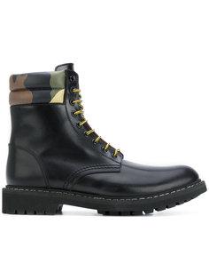 армейские ботинки с камуфляжной деталью Givenchy