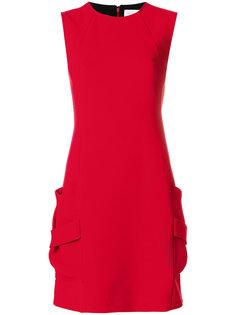 платье-мини с карманами Victoria Beckham
