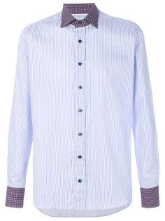 полосатая рубашка с контрастным воротником Etro