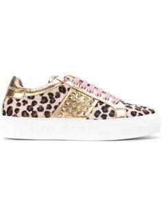 кроссовки с леопардовым принтом Philipp Plein