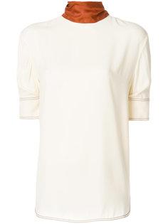 футболка с контрастным воротником Marni