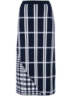 юбка с шотландской клеткой Victoria Beckham