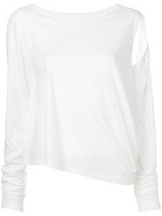 блузка с вырезами на плечах Mm6 Maison Margiela