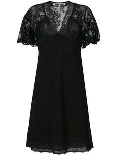 платье с рукавами-крылышками и кружевом McQ Alexander McQueen