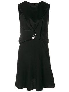 платье без рукавов с безопасной булавкой Versus