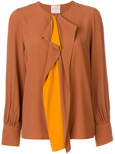 блузка с драпировкой Erika Cavallini