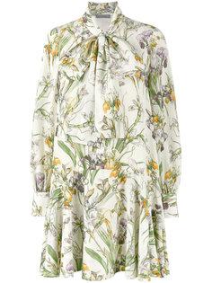 платье с принтом ирисов Alexander McQueen