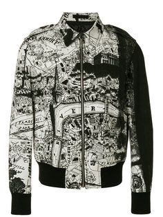 куртка-бомбер с картой города Alexander McQueen