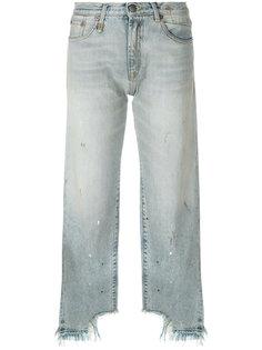 укороченные джинсы с необработанными манжетами R13