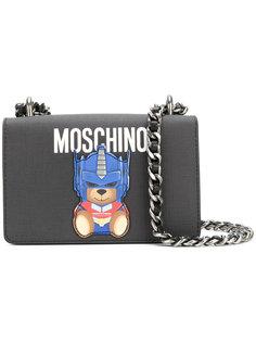 сумка на плечо с аппликацией-медведем Moschino