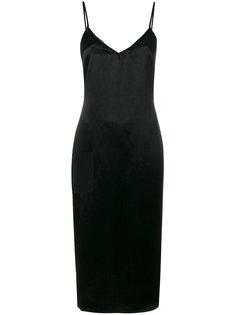платье с разрезом сбоку и молнией сзади Versus
