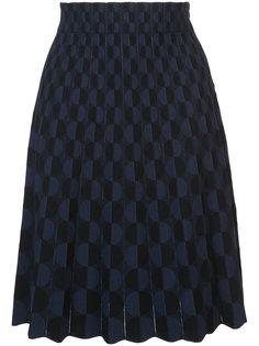 юбка с геометрическим узором Akris Punto
