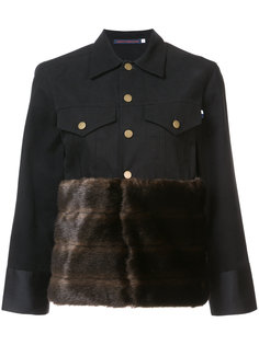 куртка на пуговицах с меховой панелью Harvey Faircloth