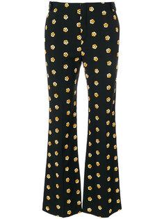 расклешенные брюки с цветочным узором Chloé