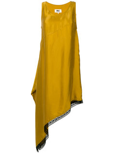 асимметричное платье Mm6 Maison Margiela