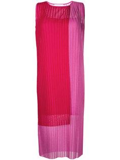 плиссированное платье дизайна колор-блок Le Ciel Bleu