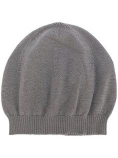 кашемировая ребристая вязаная шапка Rick Owens
