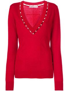 свитер с V-образной горловиной Givenchy