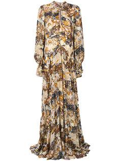 длинное платье с цветочным рисунком Chloé