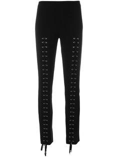 брюки со шнуровкой  Moschino