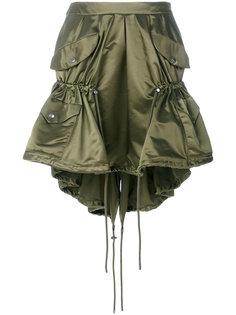 нейлоновая юбка карго со шнурком  Moschino