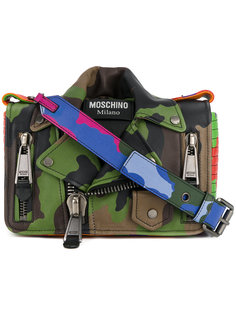 сумка в байкерском стиле с рисунком Moschino
