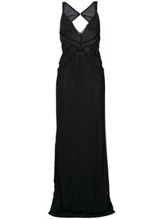 платье макси с V-образным вырезом  Dsquared2